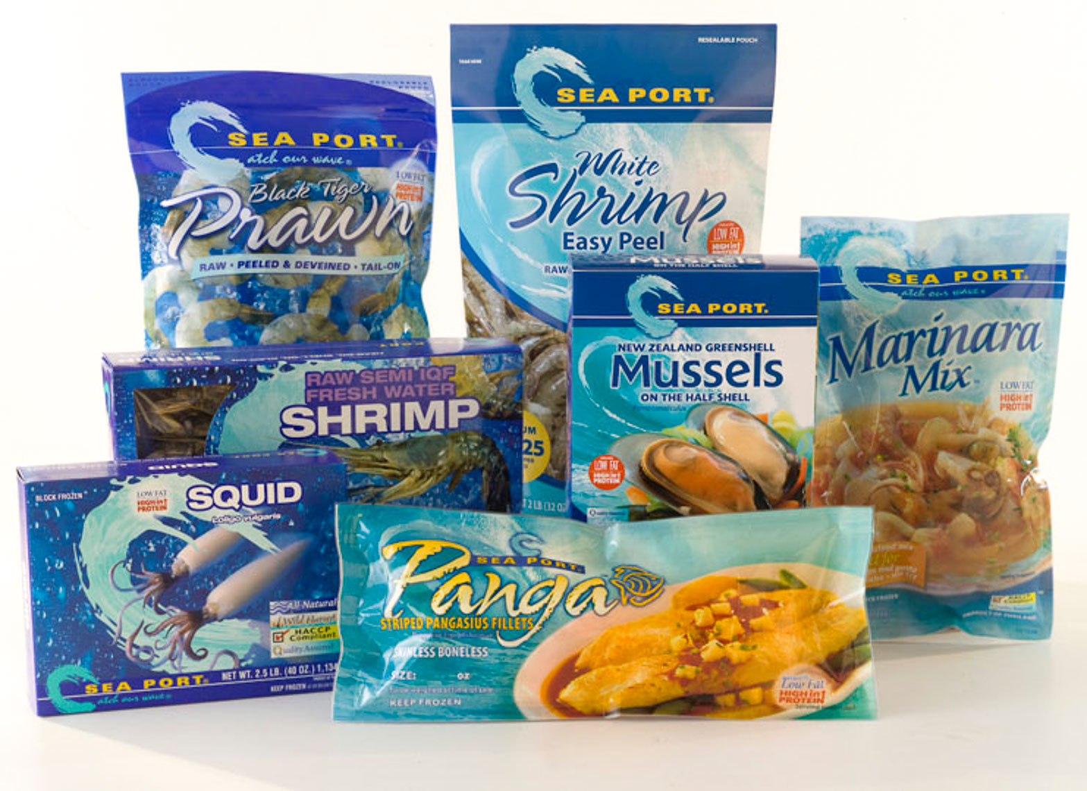 Sea Port Seafood Packaging Photography