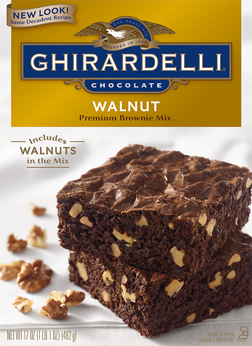 Ghirardelli Brownie Packaging Photography