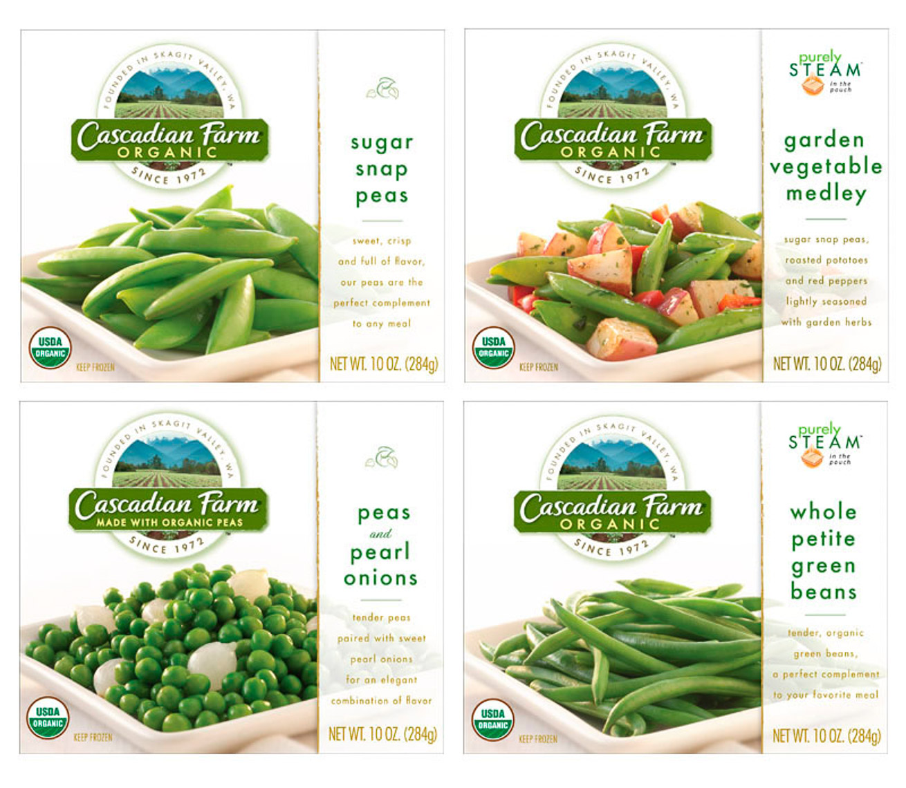 Cascadian Farms Frozen Vegetable Packaging Photography